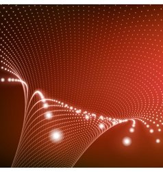 Abstract tunnel grid futuristic technology style vector