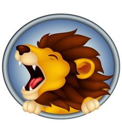 angry head lion cartoon roaring vector image