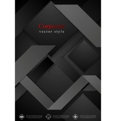 Black abstract corporate geometric background vector image vector image