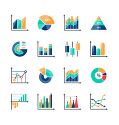 Business data market infographic elements icons vector