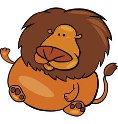 cartoon of leo zodiac sign vector image vector image