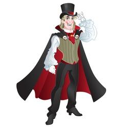charming vampire vector image vector image