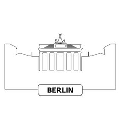 cityscape of berlin vector image