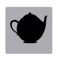 contour emblem teapot icon vector image