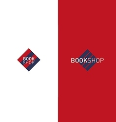Developing creative logo bookshop vector