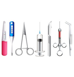 Different kinds of medical equipment vector image vector image