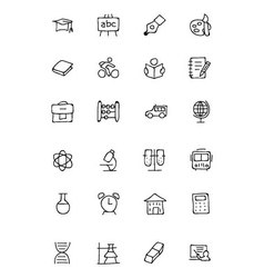 Education hand drawn doodle icons 1 vector