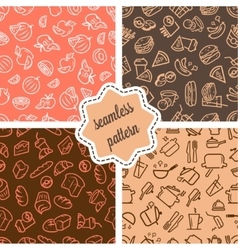 food patterns set vector image vector image