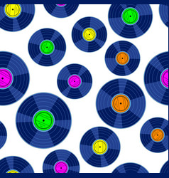 gramophone record disk pattern vector image vector image