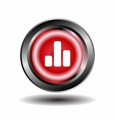 Graph char button isolated vector