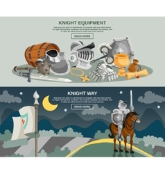 Knight Banner Set vector image