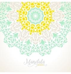 Madala round ornament vector