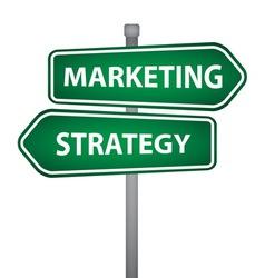 Marketing business pillar vector