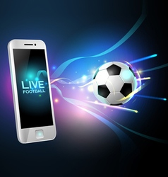 mobile football vector image vector image
