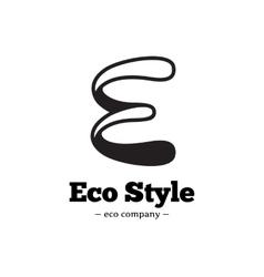 modern black and white E letter logo vector image