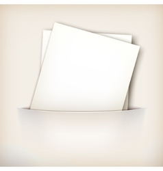 Paper Sheet in Pocket vector image vector image