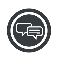 Round black chatting sign vector