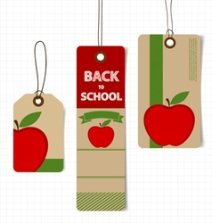 Sale coupon voucher tag welcome back to school vector