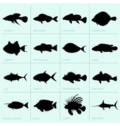 Sea fishes vector