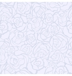 Seamless retro background with white roses vector