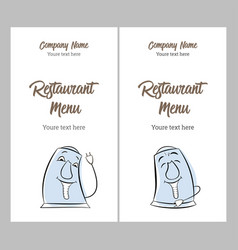 Set restaurant vintage menu design templates vector