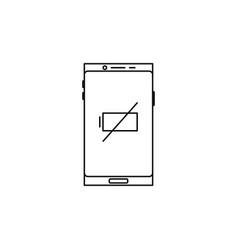 Smartphone empty battery icon vector