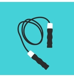 Sport skipping rope icon flat vector