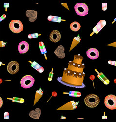 Sweet food seamless pattern vector