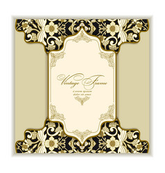vintage greeting card for wedding birthday and vector image