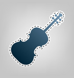Violine sign blue icon with vector