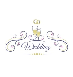 Wedding Decoration vector image vector image