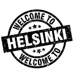 welcome to helsinki black stamp vector image vector image