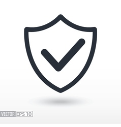 Quality is confirmed flat Icon Sign shield logo vector image
