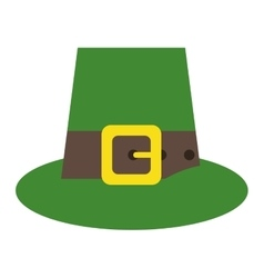 Green saint patrick day top hat with buckle vector