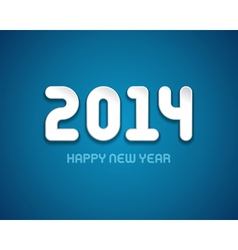 Happy New year - 2014 message design vector image