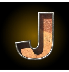 Old metal letter j vector
