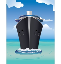 Cruise liner in the sea2 vector