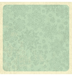 Snowflakes grunge background vector