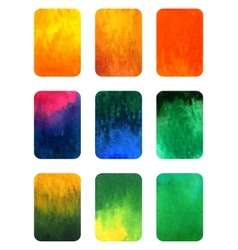 Set of gradient watercolor elements for vector