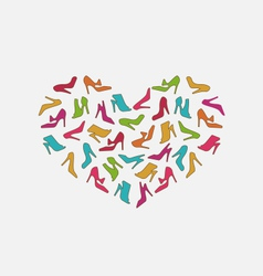 Heart Made in Women Shoes vector image