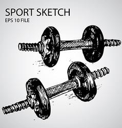 sport doodles vector image