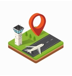 Print city airport vector