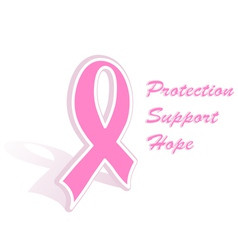 Breast cancer ribbon vector