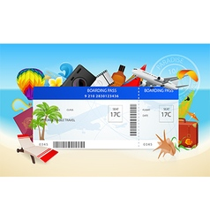 Airplane ticket boarding pass vector