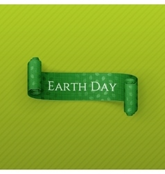 Earth Day realistic scroll festive Ribbon vector image