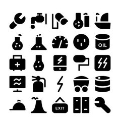 Industrial colored icons 11 vector