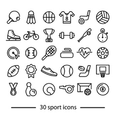 Collection of sport line icons vector