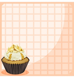 A paper with a cupcake vector image