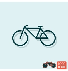Bicycle icon isolated vector image vector image