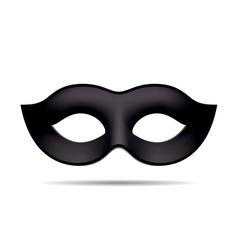 Black carnival mask vector